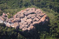 Calcata aerial view